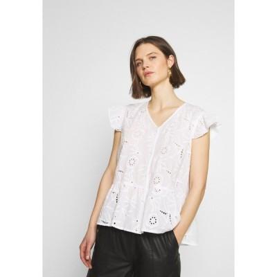 カルチャー Tシャツ レディース トップス CUSAGA ANGLAISE TOP - Blouse - white