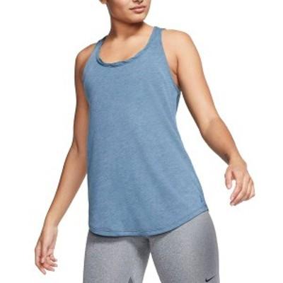 ナイキ レディース シャツ トップス Nike Women's Yoga Twist Back Training Tank Top Valerian Blue