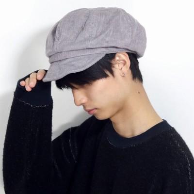 コットン100% CAS レディース帽子 メール便可 コーデュロイ ルーベン 軽い帽子 メンズ キャスケット 帽子 RUBEN グレー