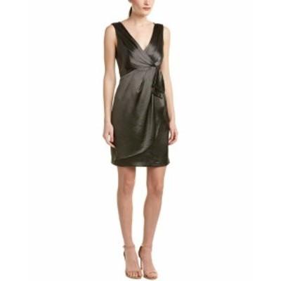 Nanette Lepore ナネットレポー ファッション ドレス Nanette Lepore Satin Sheath Dress 8 Green