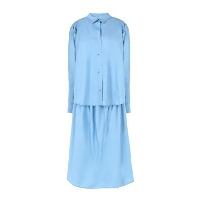 FRONT ROW SHOP 7分丈ワンピース・ドレス スカイブルー 34 テンセル 50% / コットン 50% 7分丈ワンピース・ドレス