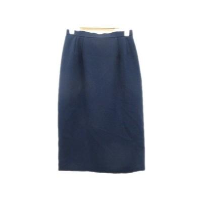 【中古】SOEN MODE ツータック スカート バックジップ スリット 9 紺 ネイビー レディース/3 レディース 【ベクトル 古着】
