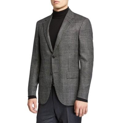 エルメネジルド・ゼニア メンズ ジャケット・ブルゾン アウター Men's Prince of Wales Check Cashmere Sport Regular-Fit Jacket