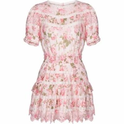 ラブシャックファンシー LoveShackFancy レディース ワンピース ワンピース・ドレス augustine floral cotton minidress Pink Painted Fe