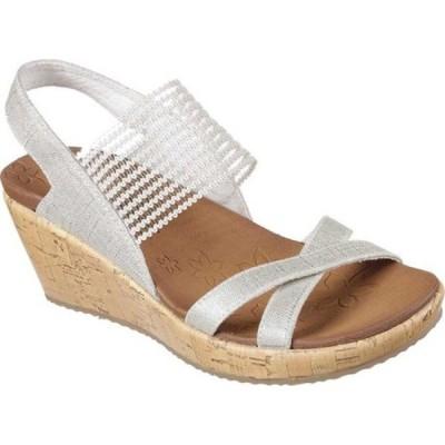 スケッチャーズ サンダル シューズ レディース Beverlee High Tea Wedge Sandal (Women's) Natural
