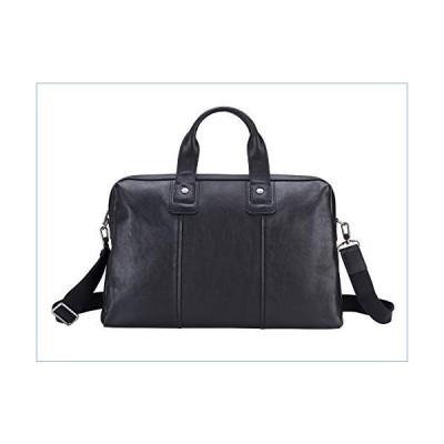 Men's Travel Tote Bag Business Briefcase Genuine Leather Shoulder Laptop Bag並行輸入品