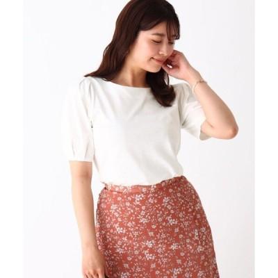 tシャツ Tシャツ シルケットコットン パフスリーブプルオーバー【WEB限定カラー・サイズ】