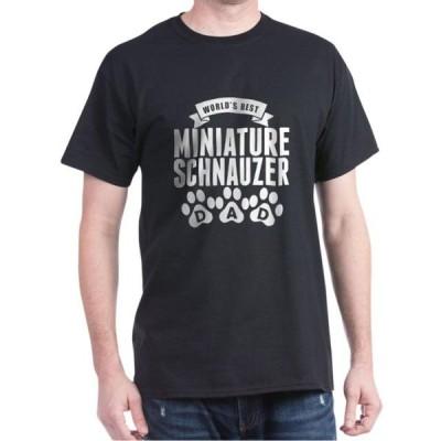 ユニセックス 衣類 トップス CafePress - Worlds Best Miniature Schnauzer Dad T Shirt - 100% Cotton T-Shirt Tシャツ