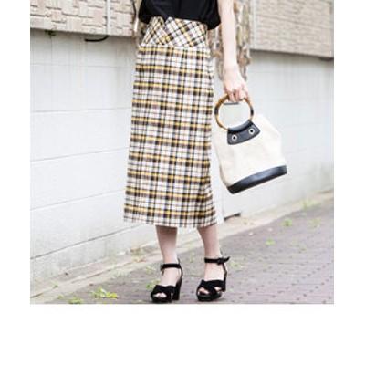 【WEB別注】ストレッチチェックペンシルスカート