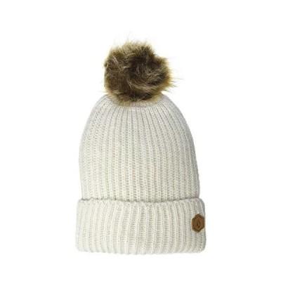 [ボルコム] [レディース] ニットキャップ (ボンボン付き)[ K5852100 / LULA BEANIE ] 帽子 かわいい BNE_ボーン US O