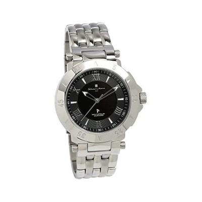 [サルバトーレマーラ]Salvatore Marra 腕時計 ウォッチ シルバー 電波ソーラー ビジネス フォーマル メンズ(シルバー メンズ)