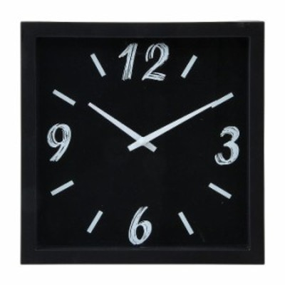 掛時計 ペイント 23cm W230×D60×H230mm ポリスチレン ウォッチ おしゃれ ブラック(代引不可)