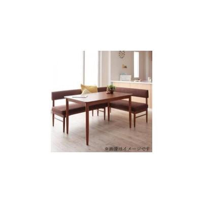 ダイニングテーブルセット 4人用 コーナーソファー L字 l型 ベンチ 椅子 3点 (机+ソファx1+肘x1) 幅120 デザイナーズ スタイリッシュ カバー 座面高43 低め