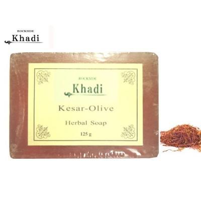 カーディ ケサ(サフラン)&オリーブ ソープ Rockside KHADI KESAR-OLIVE SOAP