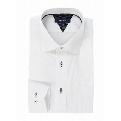 タカキュー(TAKA-Q)/形態安定レギュラーフィット ワイドカラー長袖シャツ