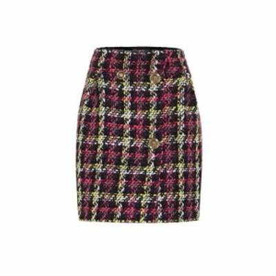 ヴェルサーチ Versace レディース ミニスカート スカート Checked tweed miniskirt Prugna Fuxia