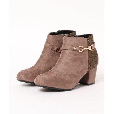 Mafmof / Realta(レアルタ) ビット付き素材切り替え ショートブーツ WOMEN シューズ > ブーツ