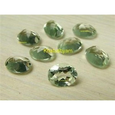 【海外からのお取り寄せ】アメシスト AAA Quality 25 Piece Green Amethyst 5x7 MM Oval Faceted Cut Loose Gemstone