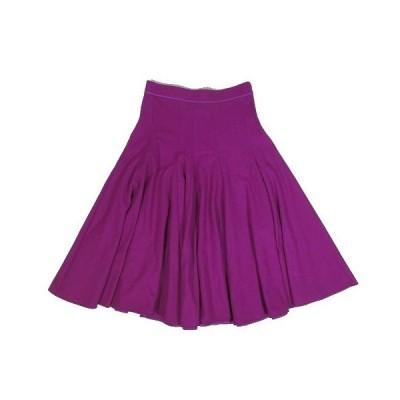【中古】ブラミンク BLAMINK ウール フレア ロングスカート ボトムス パープル 紫 サイズ38 7924-230-0123 レディース 【ベクトル 古着】