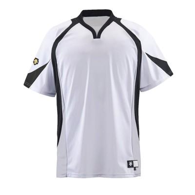 (DESCENTE/デサント)【ジュニア】【野球】ベースボールシャツ/メンズ ホワイト/ブラック