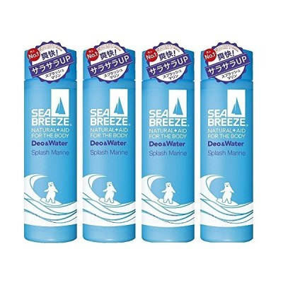 【まとめ買い】シーブリーズ デオ&ウォーター スプラッシュマリンの香り 160ml (医薬部外品)×4個