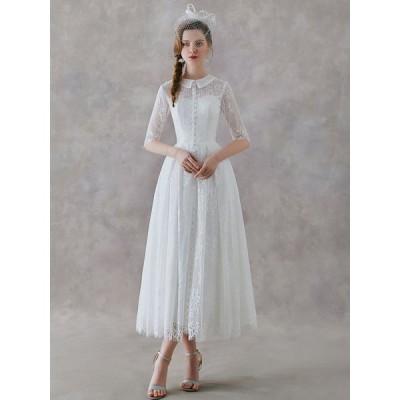 ウェディングドレス 袖あり 大きいサイズ 二次会 白 花嫁 Aライン 海外挙式 パーティードレス 披露宴 ブライダル 安い 結婚式 ロングドレス 演奏会