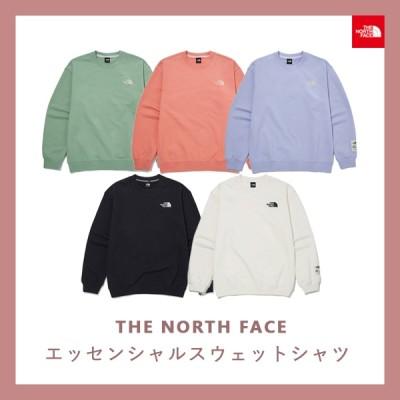 [THE NORTH FACE] TNF ESSENTIAL SWEATSHIRTS ノースフェイスレディーススエットシャツ男性シャツ長袖Tシャツマンツーマン楽なベーシックTシャツ冬のシャツ