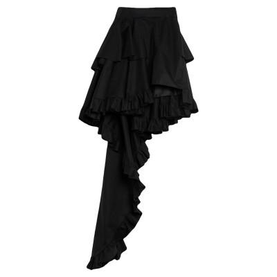 ファウスト プリージ FAUSTO PUGLISI ミニスカート ブラック 44 ポリエステル 100% ミニスカート