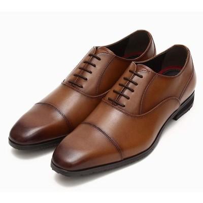 QUOカードプレゼント♪ Bello Regaro 568 ベロレガロ 防滑ソール採用 ビジネスシューズ 紐ストレートチップ クッションインソール 紳士靴 革靴 ブラウン