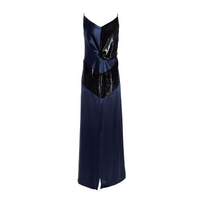 MICHAEL LO SORDO ロングワンピース&ドレス ダークブルー 8 シルク 100% ロングワンピース&ドレス
