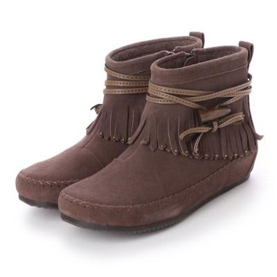 シューズラウンジ アウトレット shoes lounge OUTLET ショートブーツ 2515094GY (ブラウン)