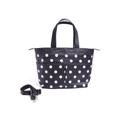 マザーズバッグ(トートタイプ) モノトーン polka dot large(twill・black) B2700900
