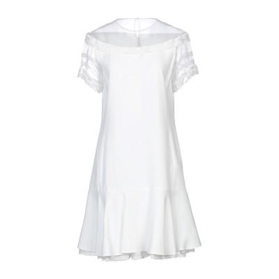 エルマノ シェルヴィーノ ERMANNO SCERVINO ミニワンピース&ドレス ホワイト 42 アセテート 74% / レーヨン 26% / コ