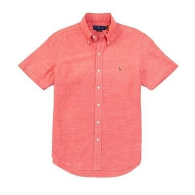 ラルフローレン メンズ シャツ トップス Classic-Fit Chambray Short-Sleeve Woven Shirt