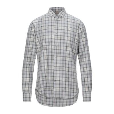 ブルックスフィールド BROOKSFIELD シャツ ライトグレー 40 コットン 100% シャツ