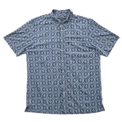 EDDIE BAUER エディーバウアー ボックスシャツ 総柄 半袖 サイズ表記:--