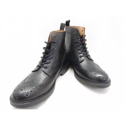 stefanorossi ステファノロッシ WING HI ウイング ハイ NERO SR03625 SIZE:27.5cm ブーツ 靴 中古 メンズ ○WT1741