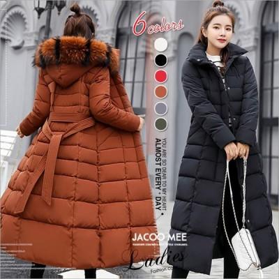 中綿コート レディース ダウン風ジャケット 中綿ジャケット フード付き ファー付き 綿入れ 厚手 ロングコート おしゃれ アウター 防寒 あったか 送料無料