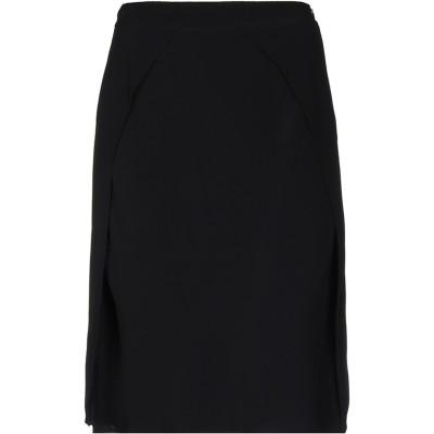 WTR ひざ丈スカート ブラック 38 レーヨン 100% ひざ丈スカート