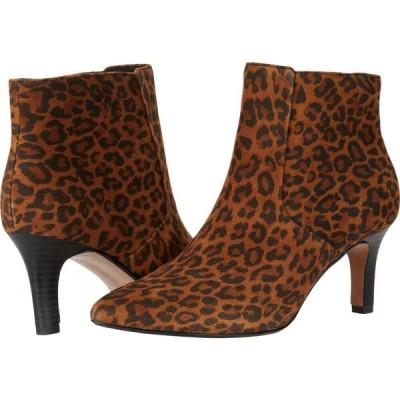 クラークス Clarks レディース ブーツ シューズ・靴 Illeana Petal Dark Tan Leopard Suede