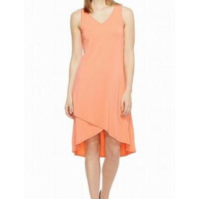 Mod-o-doc モドオードック ファッション ドレス Mod-o-doc NEW Orange Womens Size Medium M Crossover Hem Sheath Dress