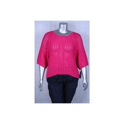 スタイル&コー-MMG セーター ニット Style&co ピンク Plus サイズ Dolman スリーブ オープン ニット セーター サイズ 0X 56LAFO