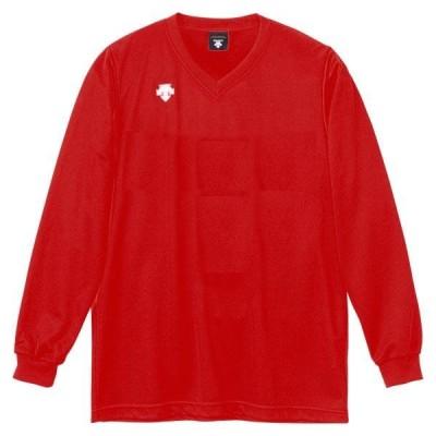 DESCENTE バレー V首長袖ゲームシャツ(ユニセックス) DSS-4311 16SS レッド ケームシャツ・パンツ(dss4311-red)