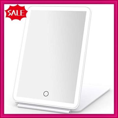 BESTOPE LED化粧鏡 折立ミラー 折立鏡 3色光 照明調節可能 USB充電 手鏡 コンパクト スタンドミラー 折りたたみ式