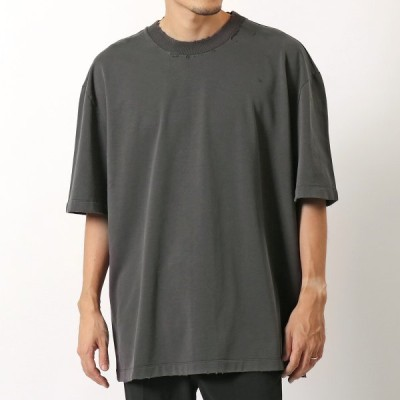 MAISON MARGIELA メゾンマルジェラ S50GC0629 S25450 Tシャツ クルーネック 半袖 ダメージ加工 カットソー 855 メンズ