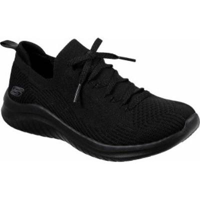 スケッチャーズ レディース スニーカー シューズ Women's Skechers Ultra Flex 2.0 Flash Illusion Sneaker Black/Black