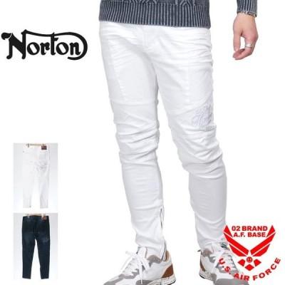 ノートン ストレッチ ライダースパンツ メンズ NORTON 201n1801