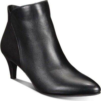 アルファニ Alfani レディース ブーツ ブーティー キトゥンヒール シューズ・靴 Harpper Kitten-Heel Booties Black