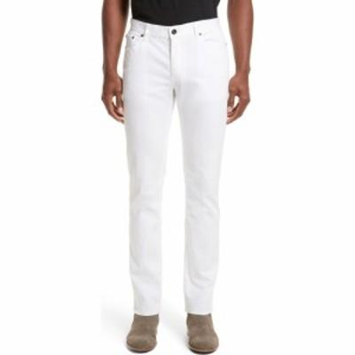 ジョン バルベイトス JOHN VARVATOS メンズ スキニー・スリム ボトムス・パンツ Slim Fit Five Pocket Pants White