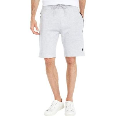 ユーエスポロアッスン U.S. POLO ASSN. メンズ ショートパンツ ボトムス・パンツ Shorts w/ Zip Pockets Heather Grey